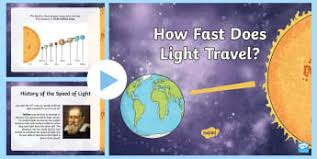 How Fast Does Light Travel Earth In The Universe Earth Moon And Sun Teaching Page 1