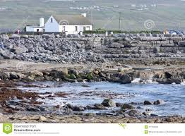 house on doolin beach county clare ireland stock photo image