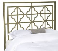 lucinda french silver metal headboard headboards furniture by