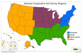 map of the united states showing states and cities map of the ncss regions nrcs soils