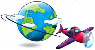 aereo clipart aereo volo intorno al mondo â vettoriali stock â blueringmedia