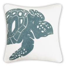 Home Decorators Outdoor Pillows by Amazon Com Sea Turtle Decorator Pillow Sea Green And White Home