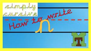 cursive handwriting how to write the letter u0027n u0027 youtube