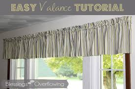 Fabric Covered Wood Valance Easy Valance Tutorial Blessings Overflowing
