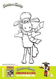 shaun the sheep christmas bleatings colouring sheets kid u0027s