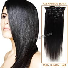 24 In Human Hair Extensions by Inch 1b Natural Black Clip In Human Hair Extensions 7pcs
