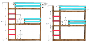Free Bunk Bed Plans Woodworking by Triple Bunk Ideas From Classic Bunks Ana White Woodworking Projects