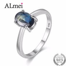 simple sapphire engagement rings almei oval cut simple created blue sapphire engagement real 925