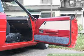 Learn How To Do Car Upholstery How To Remove A Door Panel From A Car 9 Steps With Pictures