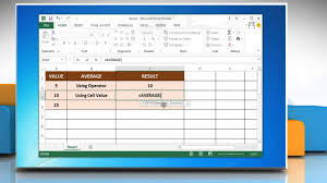 how to use the excel average function in microsoft excel 2013