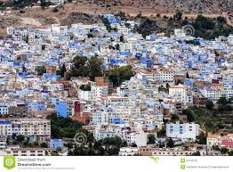 Morocco Blue City by A View Of The Blue City Chefchaouen Morocco Stock Photo Image