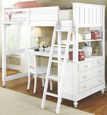 lake house white twin loft bed with desk from ne kids coleman