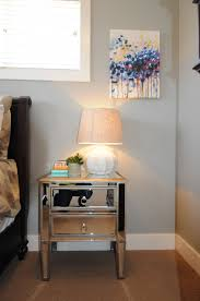 Cherry Nightstand With Drawers Nightstand Mirrored End Table With Drawers Glass Dressers