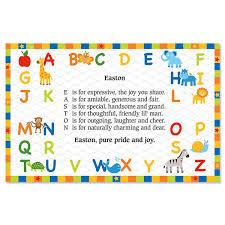 alphabet name poem placemat current catalog