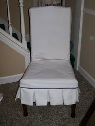 interior simple white fabric dining chair cover with button fit