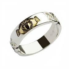 claddagh set gold claddagh set in sterling silver band claddagh jewellers