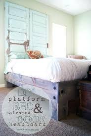 Bed Frame Lowes Diy Platform Bed Platform Bed And Salvaged Door Headboard Diy