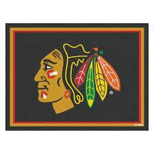 Nhl Area Rugs Fanmats Nhl Chicago Blackhawks Black 8 Ft X 10 Ft Indoor Area