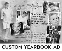 custom yearbook custom senior yearbook ad w design consultation