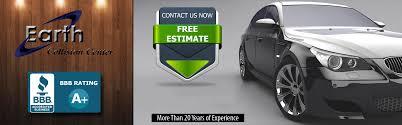 Car Collision Estimate by Auto Shop Collision Center Earth Collision Center