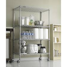 unique chrome wire shelving home design by fuller