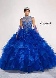 quinse era dresses blue beaded silhouette quinceanera dress pr11801