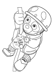 agent oso on coloring pages for kids printable free