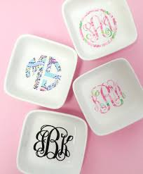 monogrammed dishes monogrammed lilly pattern jewelry dish united monograms