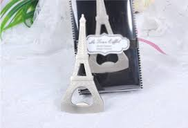 eiffel tower favors eiffel tower bottle opener themed wedding favors ewfh003 as