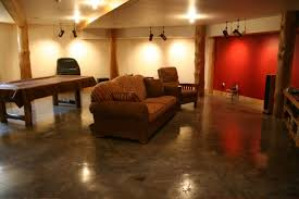 Painted Concrete Basement Floor by Interior Basement Flooring Paint Ideas With Regard To Flawless