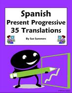 spanish present progressive 35 spanish to english translations