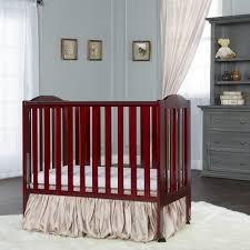 dream on me 2 in 1 portable folding crib cherry babies