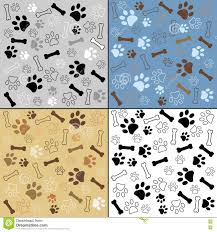 dog paw print pattern vector illustration stock vector image