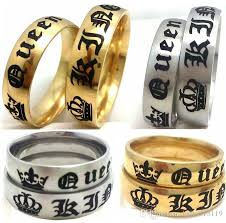 diamond king rings images Wholesale gold silver mix wedding rings for lover his queen and jpg