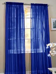 royal blue bedroom curtains 2 piece beautiful sheer window royal blue elegance curtains drape