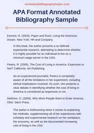 Annotated Bibliography In APA Style  What is an annotated bib  According to Cornell Library