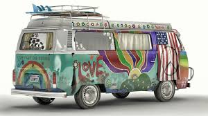 volkswagen van hippie artstation vw t2 hippie van artem yuldashev