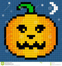 8 bit pixel art halloween pumpkin royalty free stock photo image