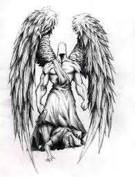 templates fallen angel wings tattoo designs