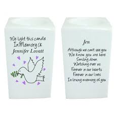in memory of gifts personalised eternal light candles for cemetery grave products grave