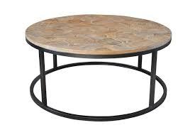 reclaimed wood round coffee table henrietta reclaimed wood parquet round coffee table style my home
