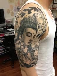 buddha sleeve by edward lee tattoonow