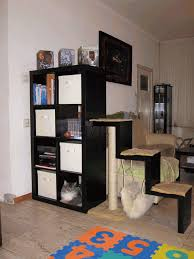 bookcase with scratching post and hammock ikea hackers ikea
