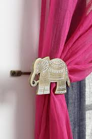 curtain elephant decorations home decor best holder ideas on