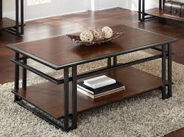 Cherry Wood End Tables Living Room Interesting Brwon Rectangle Rustic Cherry Wood Coffee Table
