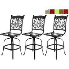 Outdoor Swivel Bar Stool Florence Cast Aluminum Outdoor Swivel Bar Stool