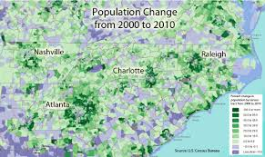 Map Of Charlotte Charlotte Population Growth A Clearer Picture Plancharlotte Org