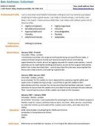 volunteer resume template volunteer cv exle learnist org