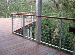 Lowes Stair Rails by Fencing Beautiful Feeney Cable Rail For Deck And Indoors