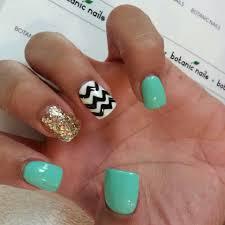 chevron teal gold glitter nails nails nail polish i love